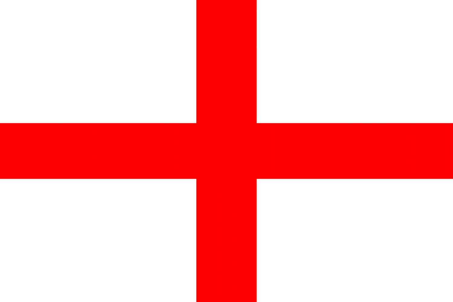 St George, national, England, flag, sewn, printed, red, cross