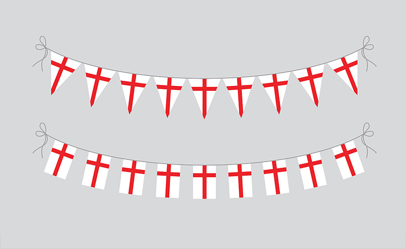 St Georges English Flag Bunting for sale