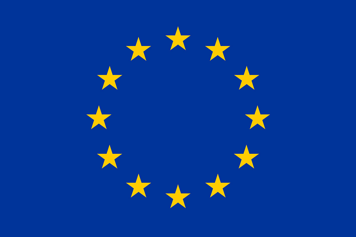 EU, European, Union, blue, sewn, printed, different sizes, flag,