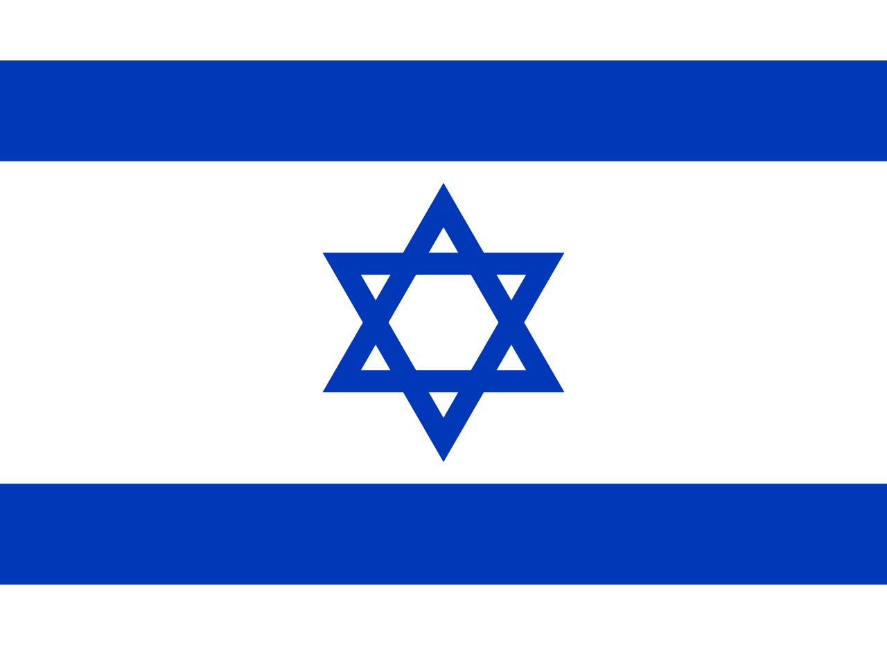 Israel, flag, printed, national, star, blue