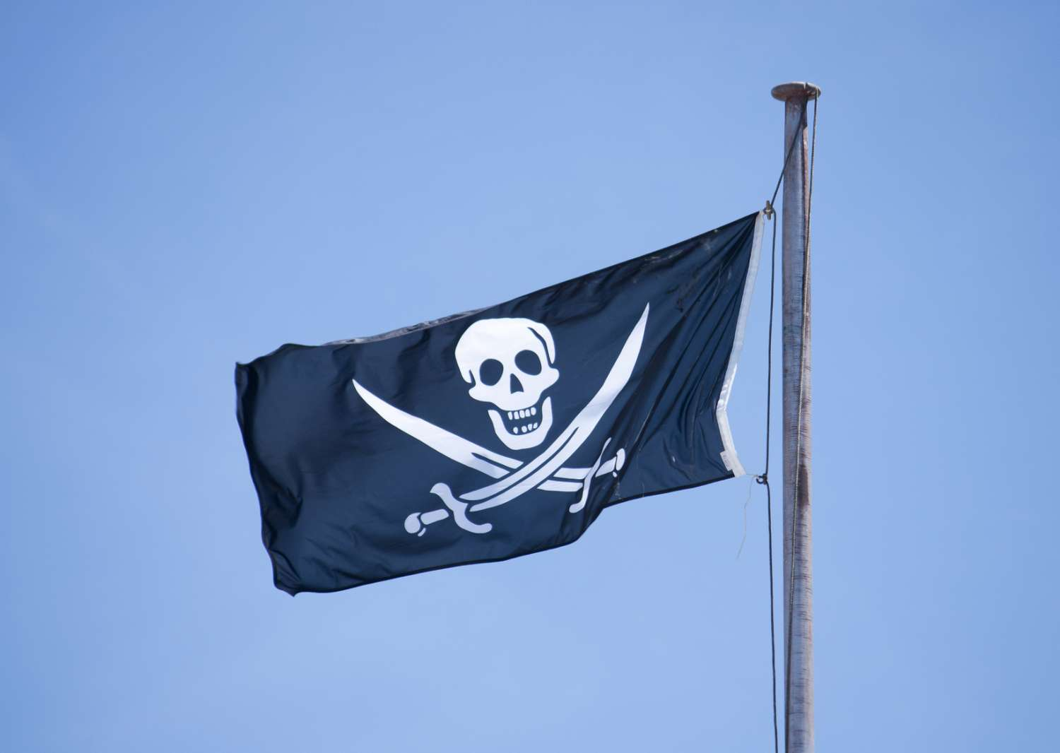 jolly-roger,-pirate, flag, printed, black, white, ship, dress up,
