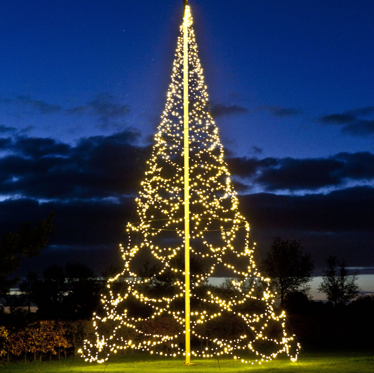 Flagpole, Christmas, tree,