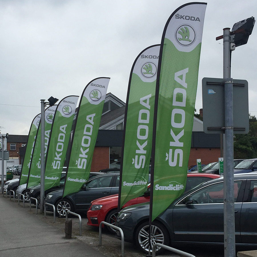 feather flags, forecourt, dealership, brand, event flags, display flags