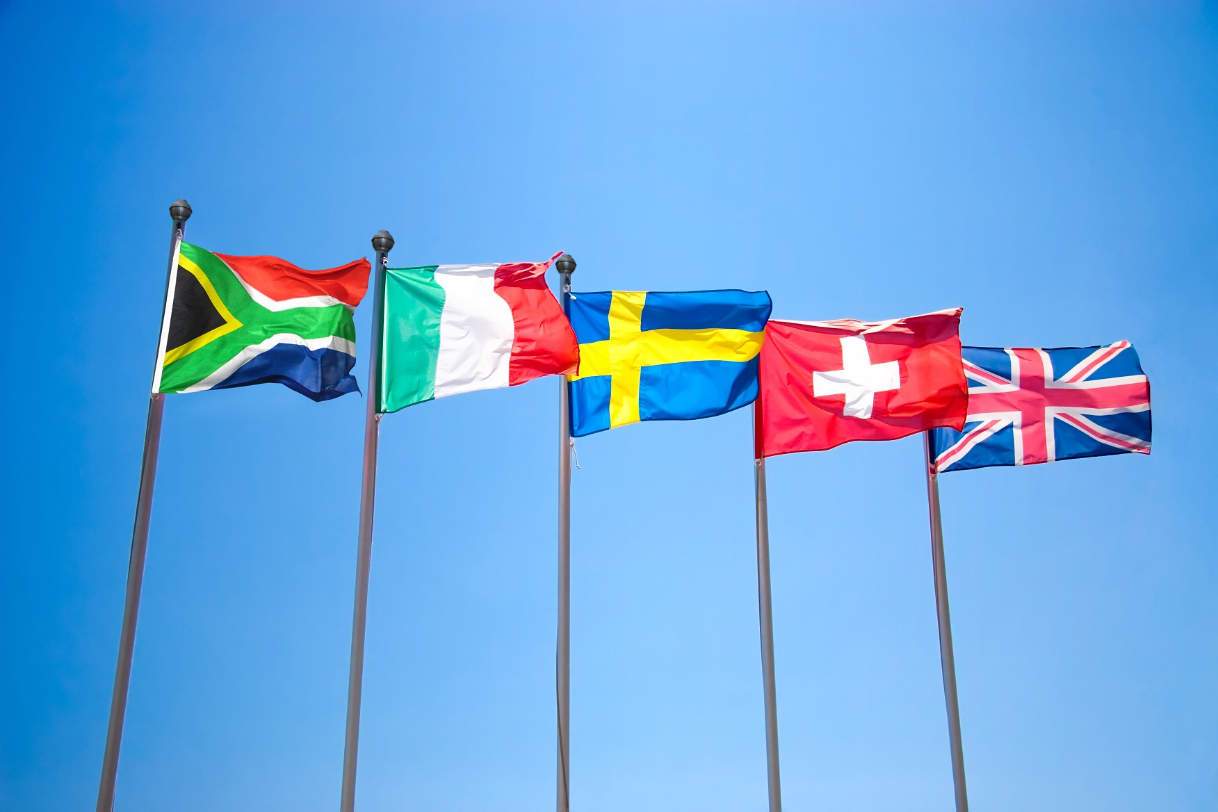 flags, flying, nations