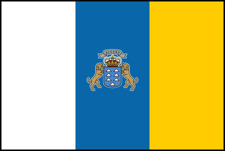 Canary Isles national, flag, sewn, national, flag, sewn, cheap, online
