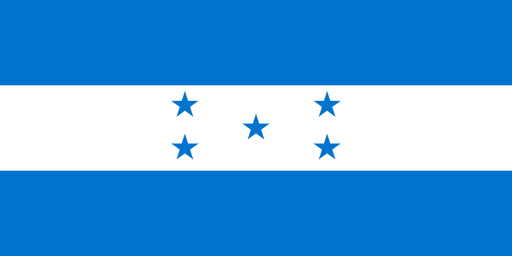 Honduras, national, flag, sewn