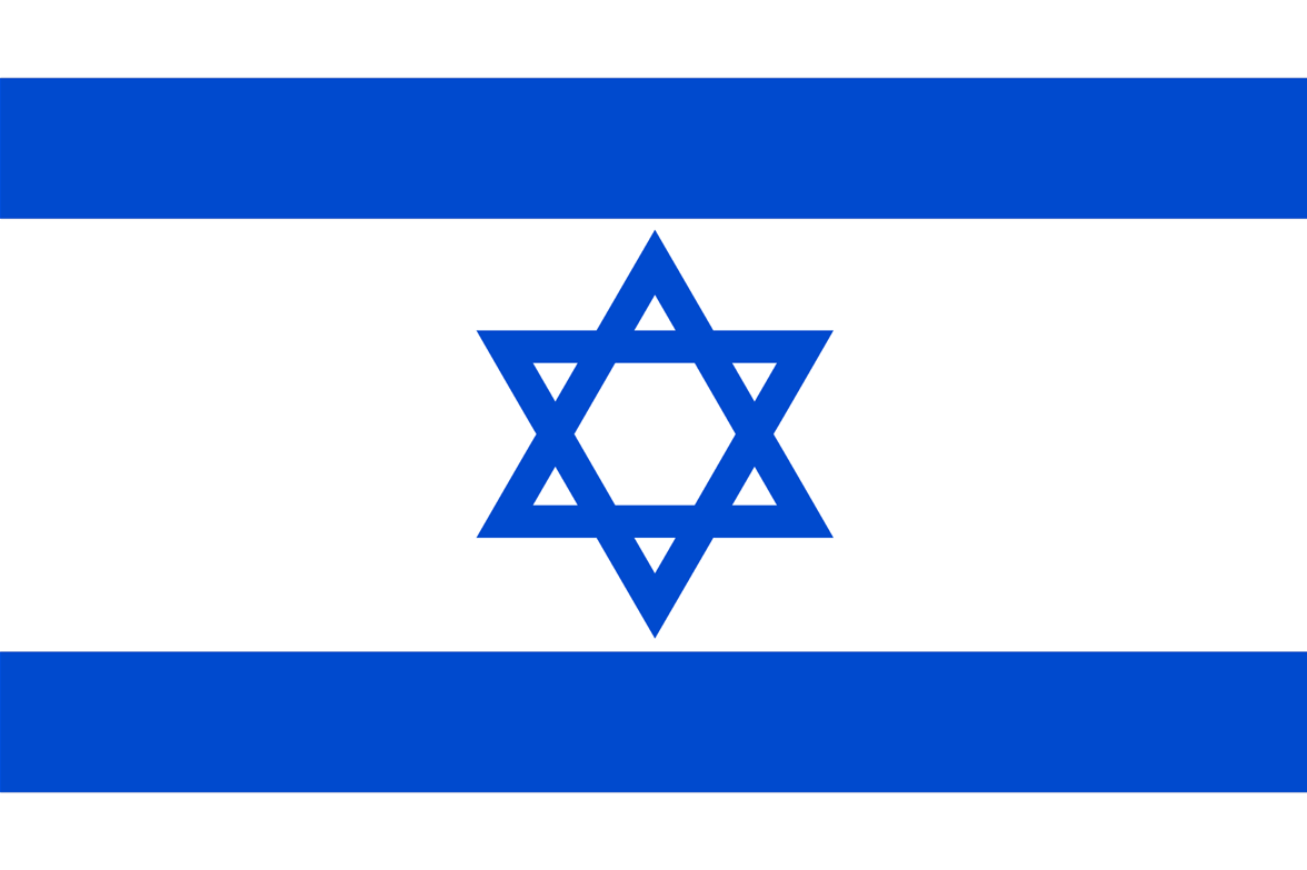 Israel, national, flag, sewn