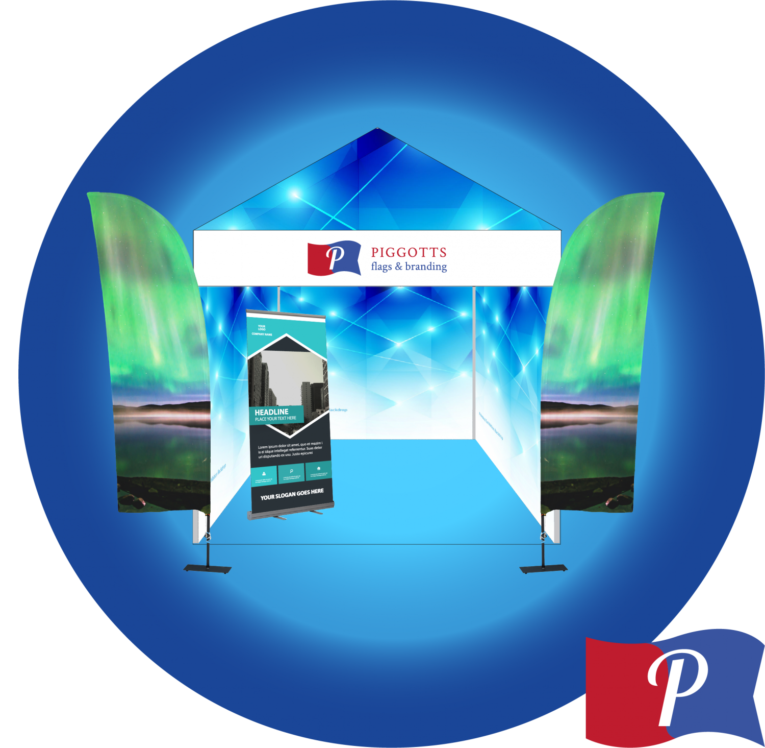 Exhibition, events, displays, branding, conference, piggotts, easy, banners, wall